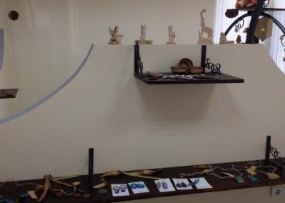 експозиция ТИЦ, дърво, лазерно рязани детайли